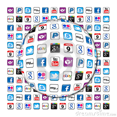 New Apps communication bubble Editorial Stock Image