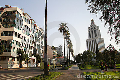 New Architecture Of Batumi, Georgia Stock Photos - Image: 21778253