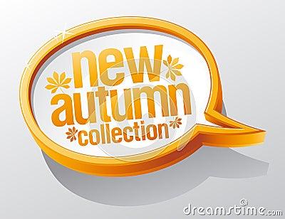 New autumn collection speech bubble.