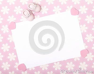 New Baby Announcement Stock Photo Image 49959699