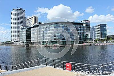 New BBC studios at Salford Quays Editorial Stock Photo