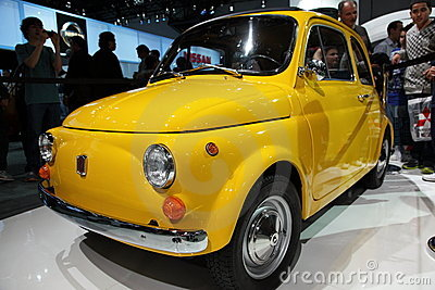 New Fiat At NY International Auto Show Editorial Photography