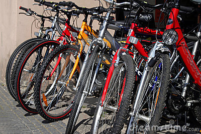 New bicycles on the street market