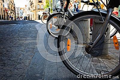New bike wheels on ancient cobblestones