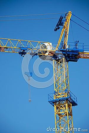 Free New Blue Construction Crane Royalty Free Stock Photo - 7167955