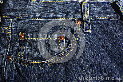 New Blue jeans detail