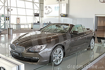 New BMW 650i on Display Editorial Photography