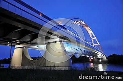 New Bratislava bridge in night