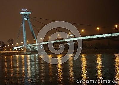 New Bridge in Bratislava, UFO