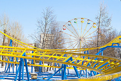 New bright roller coaster in winter park