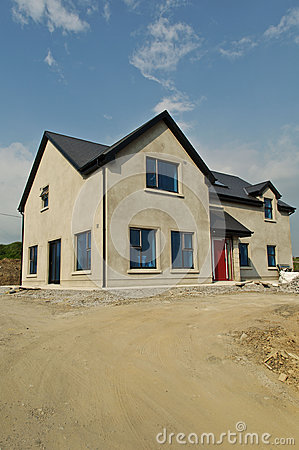 New build concrete house