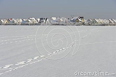 New Build Quarter in Snow
