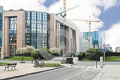 New buildings in Brussels.