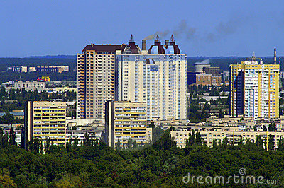 New buildings in Kiev