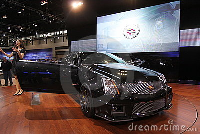 New Cadillac CTS-V coupe Editorial Image