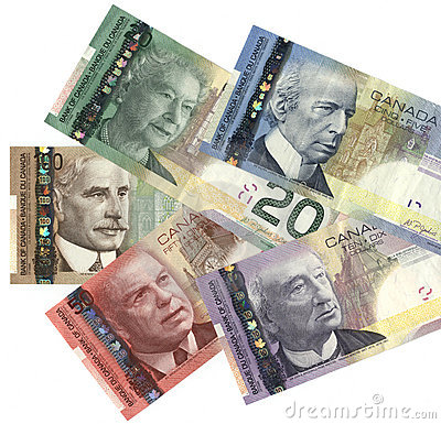 Free New Canadian Currency Stock Photography - 3481132