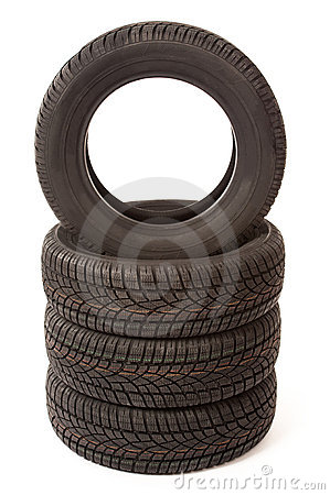 Free New Car Tires In Studio Stock Photos - 22964983