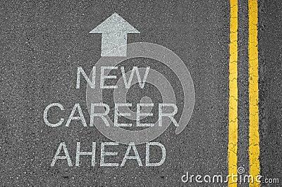 New Career Ahead Arrow