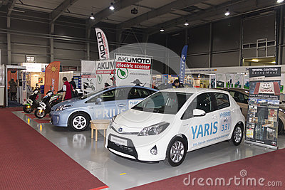 New cars displayed on AquaTherm 2012 in Prague Editorial Photography