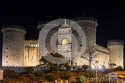 New castle maschio angioino in Naples, Italy