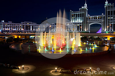 New center of the city in Astana