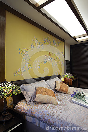 New Chinese style home bedroom