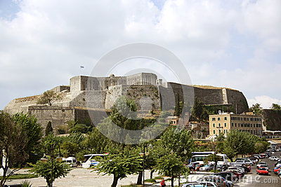 The new citadel in Corfu Town (Greece) Editorial Photo