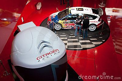 New Citroen Racing Rally Car, Paris, Champs Elysee Editorial Stock Photo