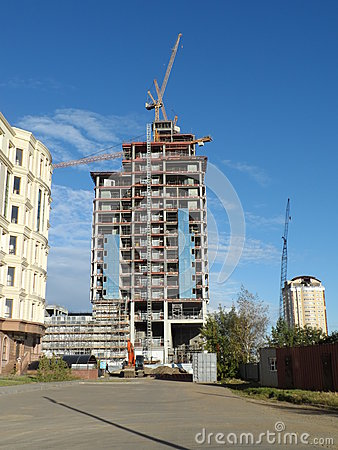Free New City - Constructions Stock Photography - 77150882