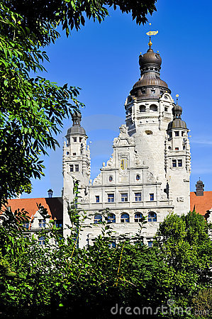 New city hall in Leipzig