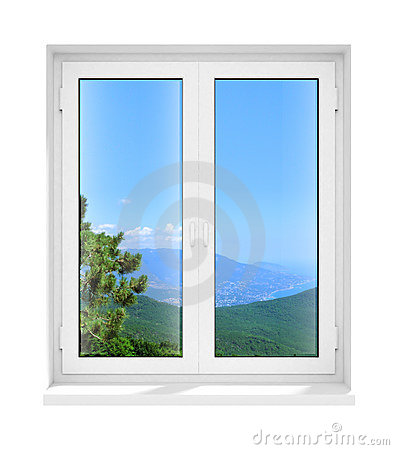 Free New Closed Plastic Glass Window Frame Isolated Royalty Free Stock Photography - 4725307