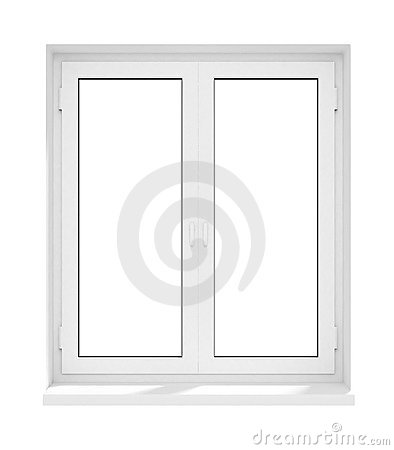 Free New Closed Plastic Glass Window Frame Isolated Royalty Free Stock Photos - 4725418