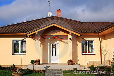 New constructed friendly family house