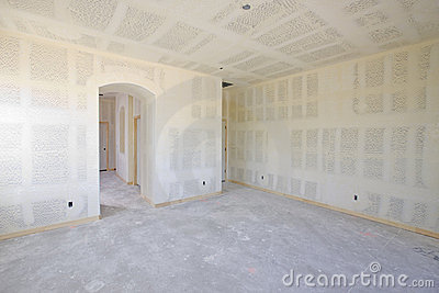 New Construction of Drywall Interior