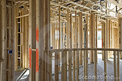 New Construction of Framing Interior