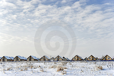 New cottages in winter