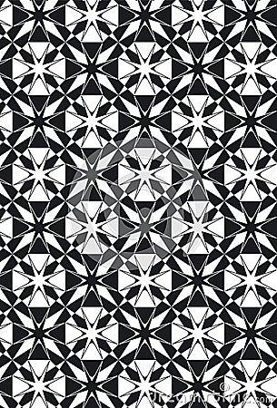 New Damask Style Pattern Star