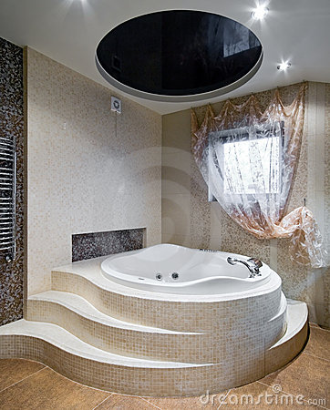 New Design White Bathroom Stock Photo - Image: 58867158