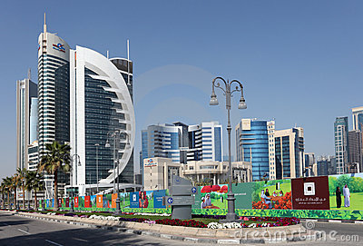 New Doha downtown district, Qatar Editorial Photo