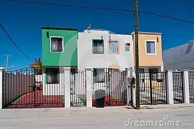 New duplex townhouses in Mexico