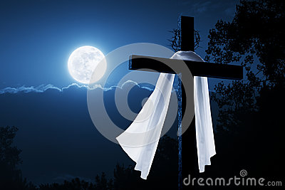 New Easter Morning Christian Cross Concept Jesus R