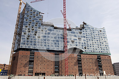 New Elbephilharmonie in Hamburg Editorial Stock Photo