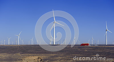New energy source of wind power windmills
