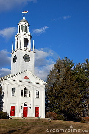 Free New England Church Stock Photo - 1808350