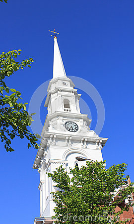 Free New England Church Stock Image - 28517581