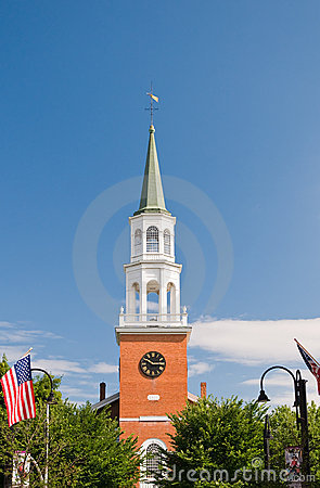 Free New England Church Steeple Stock Photography - 15215552
