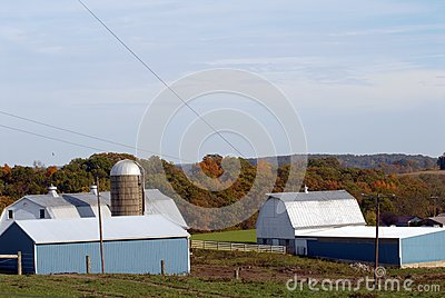 New England Farm in Fall
