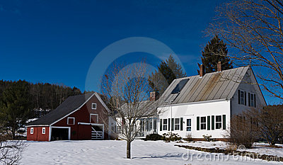 New England Farm House Barn