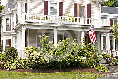 New England house porch