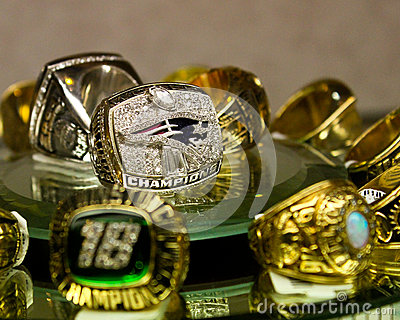 Patriots Superbowl Ring Editorial Image